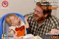 """""""The number of stay-at-home Dads has doubled in the last 25 years, reaching a peak of 2.2 million in 2010, according to a new report by the Pew Research Center. And although the Great Recession contributed to a sharp uptick, by far, the fastest growing segment of at-home Dads say they're home taking care of the kids because they want to be."""""""