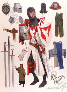 English Knight c.1290 - Original Painting