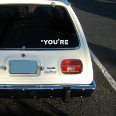 You're: Simple and Funny Grammar Nazi Your-You're Macbook Decal