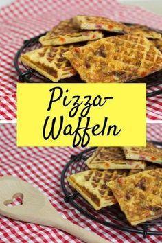 Pizzawaffeln - ein Rezept für deftige Waffeln, die Kinder lieben werden #Pizza #Waffeln #Kinder #Kochen #Snack #Rezept