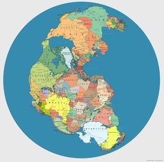 Un viaje por el mapa político de Pangea