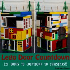 Lego Door  Christmas Countdown // How great is this? Perfect for lego #truthinthetinsel