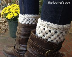 The Batter's Box — Crochet boot cuffs || free pattern