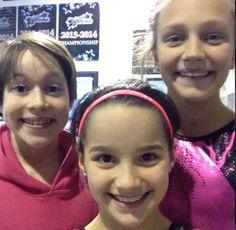Annie with Amanda and peanut at gymnastics