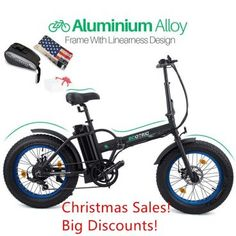 ECOTRIC New Fat Tire Folding Electric Bike Beach Snow Bicycle ebike Electric Moped Electric Mountain Bicycles Mtb Accessories, Mountain Bike Accessories, Mountain Bike Shoes, Mountain Bicycle, Mountain Biking, Electric Bike Review, Electric Moped, Best Electric Bikes, Folding Electric Bike
