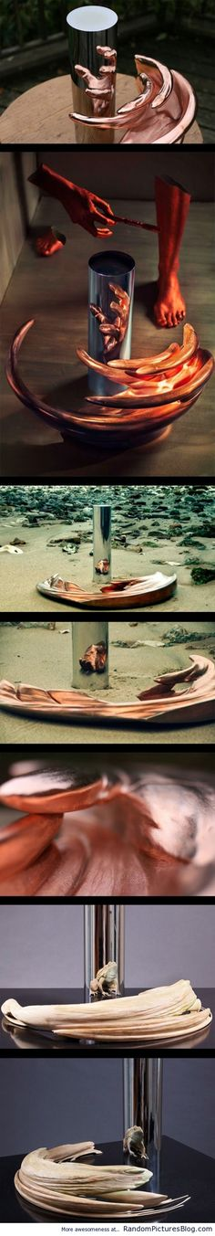 Incredible sculptures made to be reflections - from www.RandomPicturesBlog.com