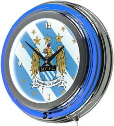 Kohl's Manchester City FC Neon Wall Clock