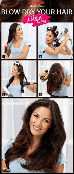 A blow dry at a salon is always wonderful-it goes for whole day grooming! Annoyed using the blow dryer? Looking for tips and tricks on how to blow dry hair at home? This article shows you a How to blow dry hair straight hair. Tips Belleza, Pretty Hairstyles, Hairstyle Ideas, Ladies Hairstyles, Blowout Hairstyles, Fashion Hairstyles, Hairstyle Tutorials, Diy Hairstyles, Great Hair