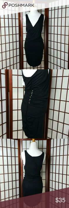NWT GUESS LOS ANGELES Bodycon Dress Size M * New with tags, Guess Los Angeles Size Medium *Color Black , solid pattern, sleeveless, cross over and Bodycon  styles. Guess Dresses Mini