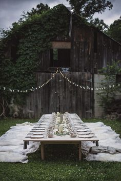 Gorgeous rustic barn outdoor wedding + entertaining