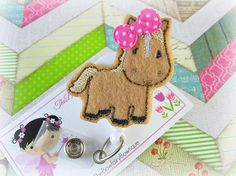 Cute Horse Retractable Badge Reel / by TheBowfairyBowtique on Etsy