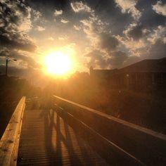 Sun setting on Tybee Island, Georgia • Visit Savannah