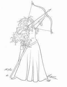 Disney Brave Coloring Pages. The core story of this film is about the life of a girl named Merida, the only daughter of the Kingdom of Dunbroch in the Scottish highlands. Merida h. Stitch Coloring Pages, Chibi Coloring Pages, Super Coloring Pages, Barbie Coloring Pages, Horse Coloring Pages, Coloring Pages To Print, Coloring Books, Coloring Sheets, Princess Coloring Pages Printables