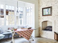 An Isokern Fireplace can transform any room in your home into a peaceful sanctuary. Check out earthcore.com to begin your project today. Farmhouse Design, Rustic Farmhouse, Farmhouse Style, Custom Home Builders, Custom Homes, Custom Fireplace, Brick Fireplace, Rustic Wood Floors, Built In Dresser