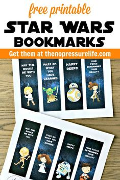 These free printable Star Wars bookmarks are such a fun birthday party favor! They're a perfect craft for a Star Wars Day party or just for fun. Featuring your favorite droids and plus Po Dameron, Rey, Luke, Yoda, and Princess Leia! Printable Star Wars, Free Printable Bookmarks, Free Printables, Star Wars Day, Star Wars Kids, Star Wars Quotes, Star Wars Humor, Libros Star Wars, Star Wars Party Favors
