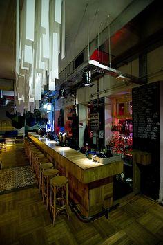 Basic Collection, Doboz Budapest   #bar #design #stool #hungary #basiccollection #colour #blue #counter #budapest #installation #wood