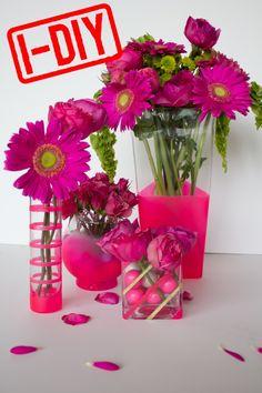 DIY bright spring vases