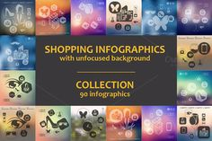 Check out 90 SHOPPING INFOGRAPHICS. Collection by Palau on Creative Market
