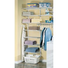 White Wire Laundry Area Closet, $259