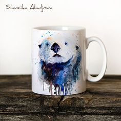 This watercolor sea otter mug is seriously a work of art! Buy it on Etsy now!