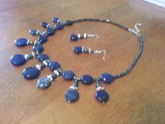 Lapis lazuli set.