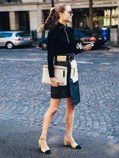 Streetstyle-Stars wie Pernille Teisbaek (Foto) haben den Trend Granny Shoes vorgemacht.