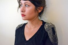 Beaded Epaulet Top | DIY Clothes | Tops, Tees, And Blouses Edition