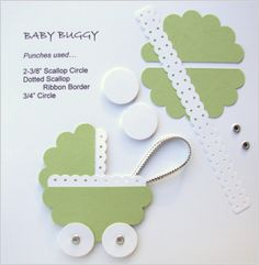 New Baby Cards Shower Circle Punch Ideas Paper Punch Art, Punch Art Cards, Tarjetas Stampin Up, Stampin Up Cards, Arte Punch, Origami, Craft Punches, Ideias Diy, New Baby Cards