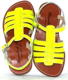 manuela de juan neon sandals #kids #shoes