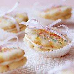 Hazelnut and Eggnog Cookie Sandwiches