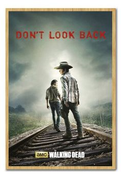 The Walking Dead Dont Look Back Poster Magnetic Notice Board Beech Framed - 96.5 x 66 cms (Approx 38 @ niftywarehouse.com