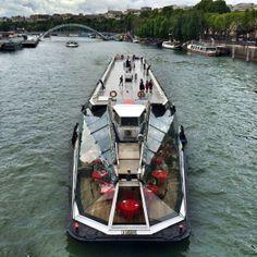 geometric Paris boat