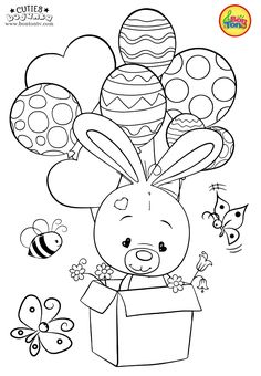 Cuties Coloring Pages for Kids - Free Preschool Printables -. - Cuties Coloring Pages for Kids – Free Preschool Printables – Slatkice Bojanke – Cute Animal Coloring Books by BonTon TV Free Kids Coloring Pages, Free Printable Coloring Sheets, Unicorn Coloring Pages, Disney Coloring Pages, Animal Coloring Pages, Coloring Book Pages, Coloring Pages For Kids, Frozen Coloring Sheets, Easter Coloring Pages Printable