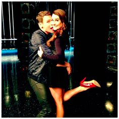 """""""A very special day at #Glee today! Only 3 more days left! And look who stopped by! #JGroff #JesseStJames"""""""