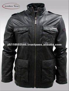 Кожаная куртка мужская милитари