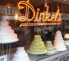 One of my favorite Chicago bakeries on Lincoln Ave. Best birthday cakes. #Dinkel's  My Mother took my Sister and I here every weekend when we were little girls.
