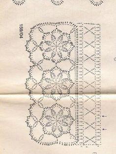 Crochê Tricô: Barradinho Flores