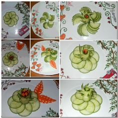 Art in cucumber and carrots;-)by zeba