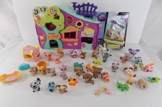 Lot of Littlest Pet Shop LPS 41 Animals 1 Doll W/ Acc Dogs Cats 45+ pc Some NEW #Hasbro