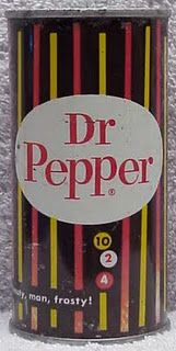 Vintage soda Dr Pepper can...check out when to drink...10...2...4!