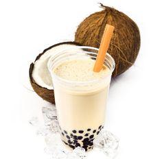 #Smoothie à l'ananas, #banane et noix de #coco