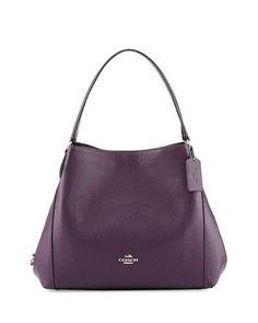 COACH Edie 31 Leather Shoulder Bag, Silver/Aubergine. #coach #bags #shoulder bags #hand bags #leather #