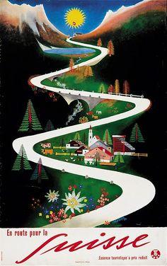 En route pour la Suisse - 1957 - (Carigiet Alois) -