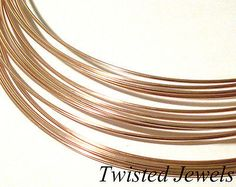 Wire 67714: 1Oz 20 Ga Ap 18 14K Rose Gold-Filled Square Dead Soft Jewelry Wire Gauge G -> BUY IT NOW ONLY: $56.95 on eBay!