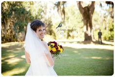 Short haired pixie brides rock! Even wore a full veil!