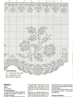 Diana Bistro Gardinen D 1302 - Zosia - Picasa Web Albums Filet crochet floral, dainty, lacy kitchen curtain chart / graph No. Filet Crochet Charts, Crochet Doily Patterns, Crochet Borders, Crochet Cross, Crochet Art, Knitting Charts, Crochet Home, Crochet Motif, Crochet Doilies