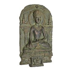 Design Toscano Earth Witness Buddha Wall Sculpture c 9001200 AD >>> You can get more details by clicking on the image.
