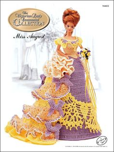 August 1993 ~ fits Barbie dolls Victorian Lady crochet pattern booklet NEW Crochet Barbie Patterns, Crochet Doll Dress, Crochet Barbie Clothes, Crochet Doll Pattern, Knitted Dolls, Doll Clothes Patterns, Doll Patterns, Dress Patterns, Barbie Gowns