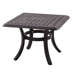 Darlee Series 88 Patio 24 Square End Table in Antique Bronze <3 This is an Amazon Associate's Pin. Item can be found on Amazon website by clicking the VISIT button.