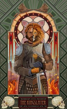 Game of Thrones stained glass inspired fan art of Sandor Clegane, Arya Stark, Jaime Lannister and Robb Stark Casas Game Of Thrones, Game Of Thrones Art, Jaime Lannister, Lannister Song, Lannister Family, Winter Is Here, Winter Is Coming, Fanart, Valar Dohaeris